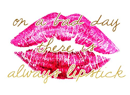 buyartforless CAN CS2224 16x12x1.5 GWrap Canvas on Bad Day There (Day Lipstick)