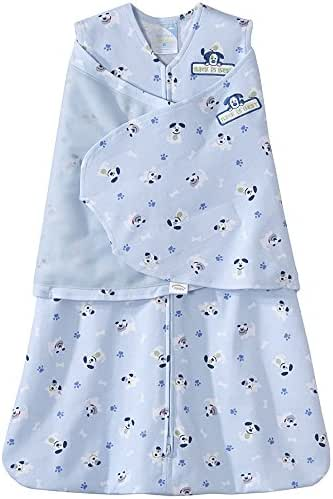 HALO 100% Cotton Sleepsack Swaddle, Blue Pup Pals, Small