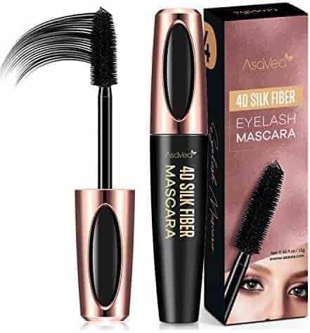 09f2308eed7 AsaVea 4D Silk Fiber Lash Mascara Waterproof, Luxuriously Longer, Thicker,  Voluminous Eyelashes,