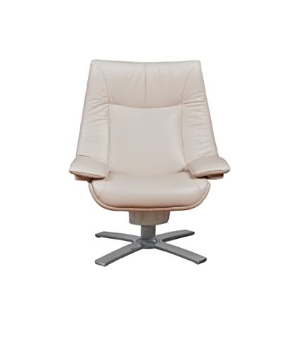 Natuzzi RE VIVE Performance Recliner And Ottoman, Ivory