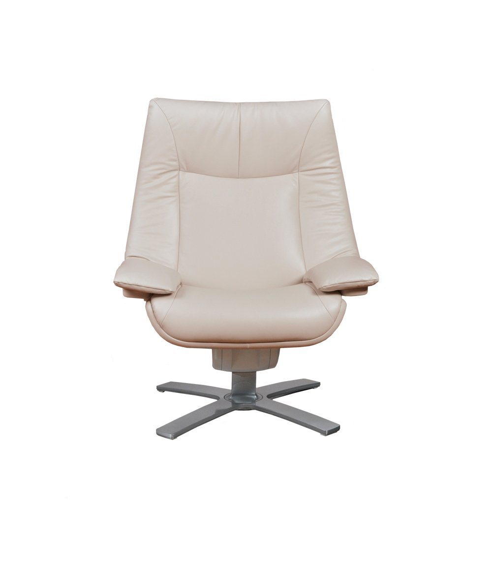 Natuzzi RE-VIVE Performance Recliner and Ottoman, Ivory