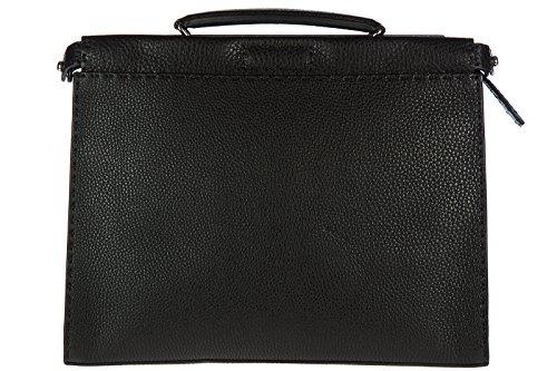 Fendi men's bag handbag genuine leather black
