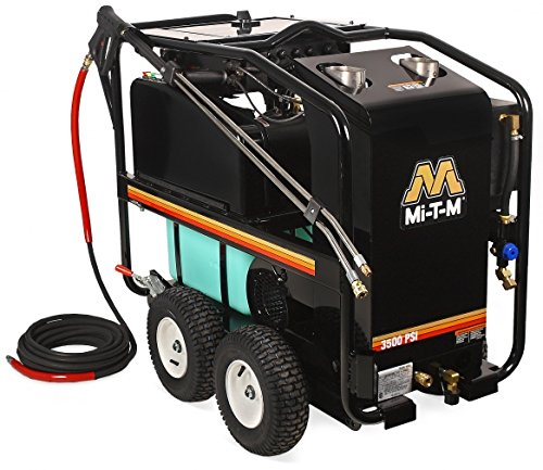 Mi-T-M HSE-3504-0M30 HSE Series Hot Water Pressure Washer, Belt Drive, 3500 psi, 3.3 GPM by Mi-T-M