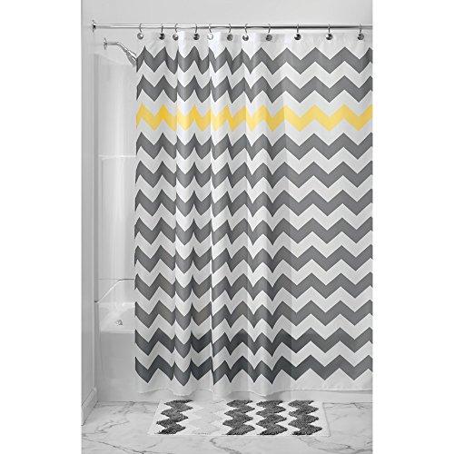 InterDesign Chevron Shower Curtain Yellow