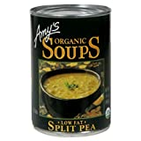 Amy's Organic Split Pea Soup, Low Fat, 14.1-Ounce Cans (Pack of 12)