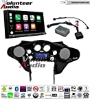 Sony XAV-AX5000 Double Din Touch Screen With Apple CarPlay, Android Auto, Bluetooth Install Kit for 98-13 Harley Davidson Batwing Fairing, Non-Road Glide Models, Metra 1 Stage Urethane Black