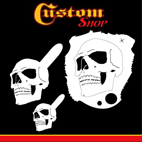 Custom Shop Airbrush Stencil Skull Design Set #1 (3 Different Scale Sizes) - 3 Laser Cut Reusable Templates - Auto, Motorcycle Graphic - Template Airbrush 1
