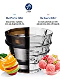 COMFEE' BPA Free Masticating Juicer Extractor with