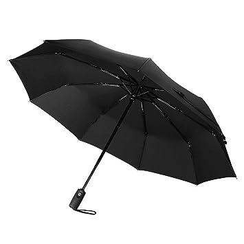 Gorjuss de Mariquita Plegable Manual Compact Paraguas en una Carcasa rígida de Almacenamiento con Cremallera 19