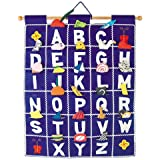 Pockets Of Learning ABC Wall Hanging Blue Wall Hanging By
