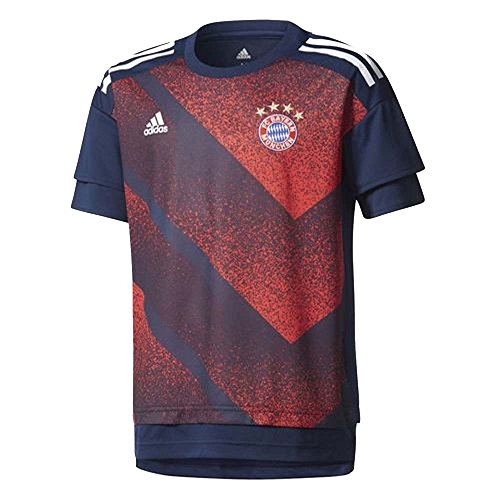 2017-2018 Bayern Munich Adidas Pre-Match Training Shirt (Red) - Kids