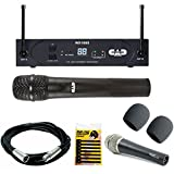 CAD Audio WX1600 G   Wireless Cardioid Dynamic Handheld Microphone System with CAD Audio D90 Premium Supercardioid Dymanic Handheld Mic + Mic Cable,...