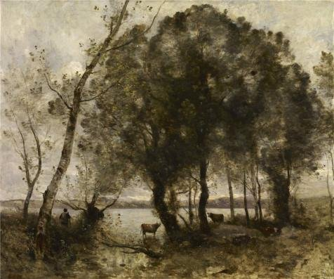 Amber Marshall Halloween Costume (Perfect Effect Canvas ,the High Quality Art Decorative Prints On Canvas Of Oil Painting 'Jean-Baptiste-Camille Corot - The Lake, 1861', 12x14 Inch / 30x37 Cm Is Best For Nursery Decoration And Home Decoration And Gifts)