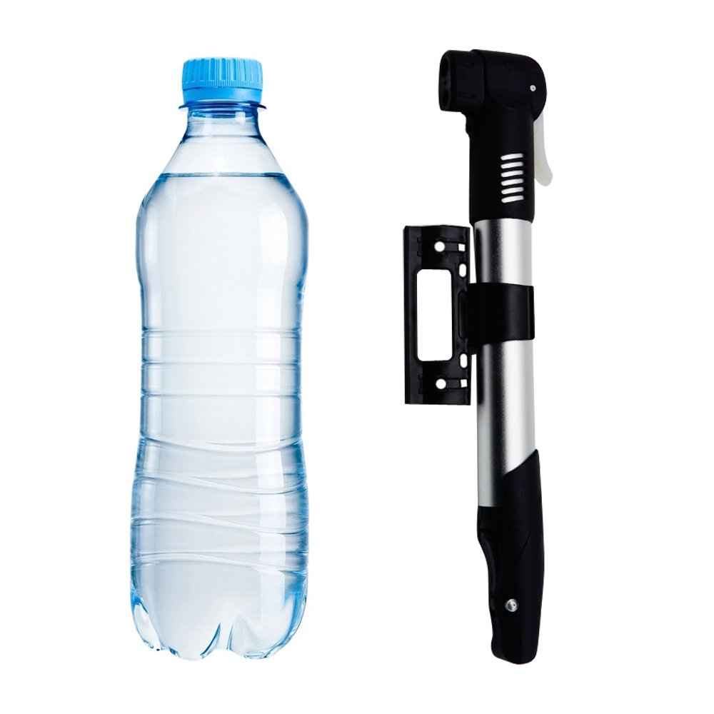 Compatible with Presta /& Schrader Valve /& Sports Ball Portable Cycle Frame Hand Pump Bicycle Tire Pump ANIN Mini Bike Pump with 2 pcs Nonlocking Carabiners Keyrings