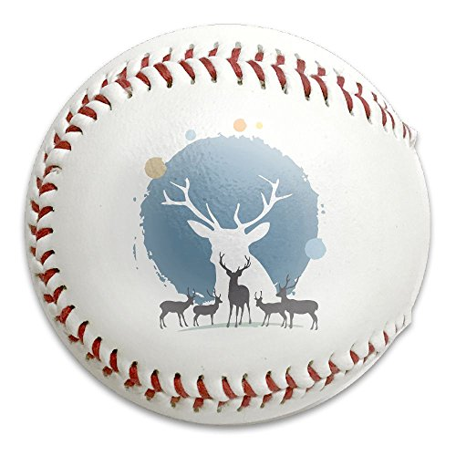 Reindeer Christmas Little League Competition Grade Baseballs,Adult/Youth Standard Size 9 Baseball Unique Creativity (To Countdown Christmas Exact)