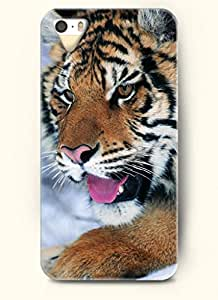OOFIT phone case design with Tiger Putting Its Tongue out for Apple iPhone 4 4s