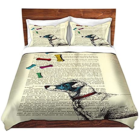 DiaNoche Designs Microfiber Duvet Covers Madame Memento Jack Russell