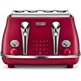 DeLonghi Icona Elements 4 Slice Toaster - CTOE 4003R - Red