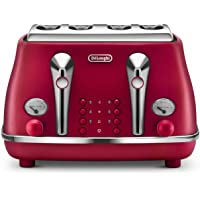 De'Longhi Icona, 4 Slice Toaster, CTO4003R, Red