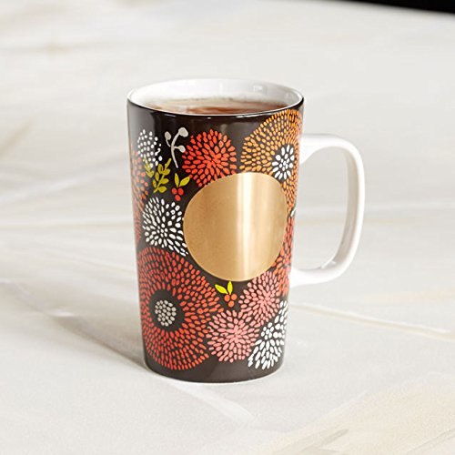 Floral Collection Pink Mug - Starbucks DOT Collection Mug - Brown Floral, 16 Fl Oz