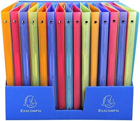 5er Pack aus PP mit 2 Ringen, 15 mm R/ücken, Chromaline, f/ür Format DIN A4 blau Exacompta 54152E Ringbuch