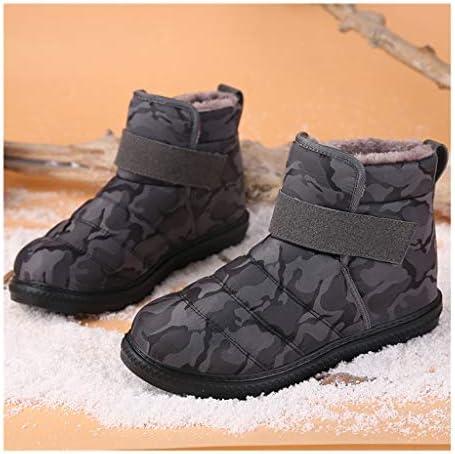 LGQ-靴屋 冬のジャングルブーツ、大人のアンクルブーツ防水屋外ウォーキング暖かいウェリントンベルクロスノーブーツぬいぐるみ裏地ノンスリップハイキングシューズ (Color : Gray, Size : 37)