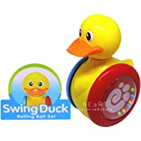 Jiada Rolling Balls Swing Duck with Rattle Music Toddler Toy - Non Toxic