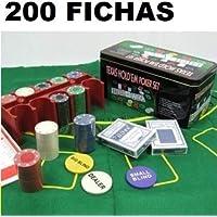 TEXAS HOLD*EM Juego de Poker 200 fichas