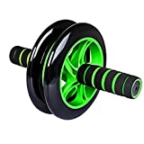 Aurion Black/Blue Total Body Ab Exerciser Double Wheel Unisex Ab Abdominal Roller with fee mat