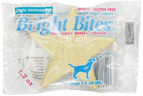 Bright Bites Daily Dental Dog Treats, Cool Peppermint, Medium, 5 Pound Box by Bright Bites