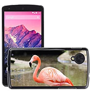 Super Stella Slim PC Hard Case Cover Skin Armor Shell Protection // M00148677 Flamingo Animal Pink // LG Nexus 5