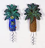 Handpainted Palm Tree Corkscrew Wine Bottle Opener With Review and Comparison
