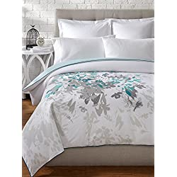 Kas Designs 'Luella' Duvet Cover Teal Twin
