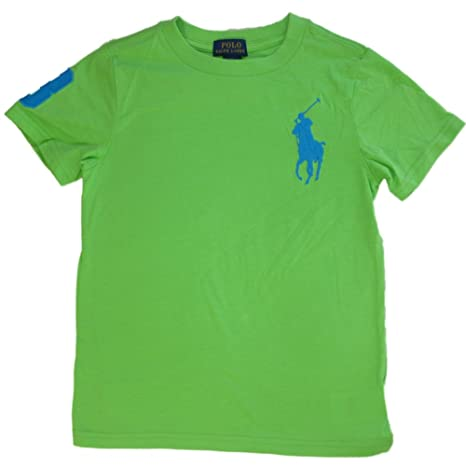 Ralph Lauren de Ringel Niños Camiseta con Big Pony Polo Jinete ...