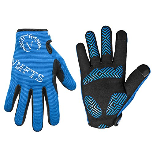 VMFTS Cycling Gloves Full Finger Motorcycle Gloves Outdoor Winter Work Gloves Touch Screen Men Womans for Driving Camping Hiking Riding Biking Running Hunting Fishing Shooting,Blue Medium