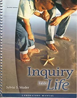 inquiry into life sylvia s mader 9780073309330 amazon com books rh amazon com inquiry into life 15th edition lab manual pdf inquiry into life laboratory manual answers