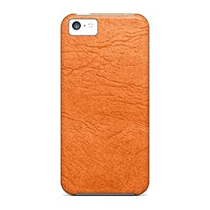Hot Design Premium GJVEBog6659gNYxB Tpu Case Cover Iphone 5c Protection Case(orange Leather)