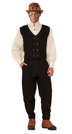 Forum Novelties x76368 aplanadora de negro Steampunk disfraz de chaleco: Amazon.es: Juguetes y juegos