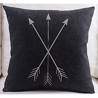 Feather Arrow Magic squares Cotton Linen Throw Pillow Case Cushion Cover Home Sofa Decorative 18 X 18 Inch (8)