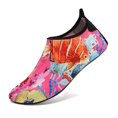 CIOR Männer Frauen und Kinder Barfuß Haut Schuhe Rutschfeste Wasser Schuhe Für Strand Pool Surf Yoga Übung Blume 04