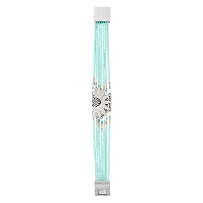 405429fdc1ccb8 Hipanema Manchette brésilienne Bleu Turquoise Marlowe: Amazon.fr: Bijoux