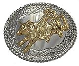 """Western Belts Boys Mirror Bull Rider Buckle 2.5"""" W"""