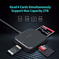 Amazon.com: SD Card Reader, USB 3.0 Adapter Hub Read 4 Cards ...