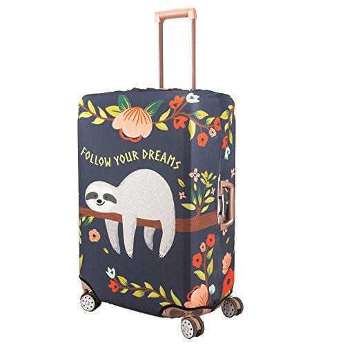 Madifennina Spandex Travel Luggage Protector Suitcase Cover Fit 23-32 Inch Luggage (sloth, XL) by Madifennina (Image #3)