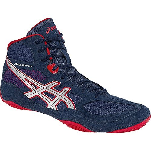 Asics timbre de lucha libre zapatos ASICS Snapdown–J502Y 5093–Navy/Silver/rojo
