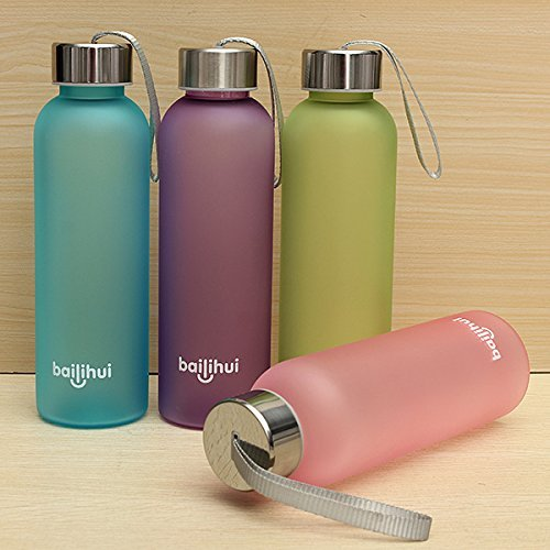 600ml-sports-camping-traveling-portable-frosted-water-bottle