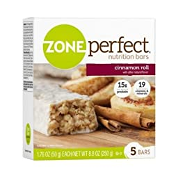 Zone Perfect Cinnamon Roll Nutrition Bar, 1.76 Ounce - 5 per pack -- 6 packs per case.