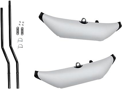 2Pcs PVC Inflatable Stabilizer /& 2 Pole Mount for Kayak Paddling Fishing SUP