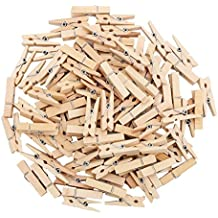 Decora 3.5cm Sturdy Natural Wooden Mini Clothespin 100 pieces in One Package