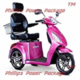 E-Wheels - EW-36 Slowpoke Scooter with Electromagnetic Brakes - 3-Wheel - Magenta - PHILLIPS POWER PACKAGE TM - TO $500 VALUE